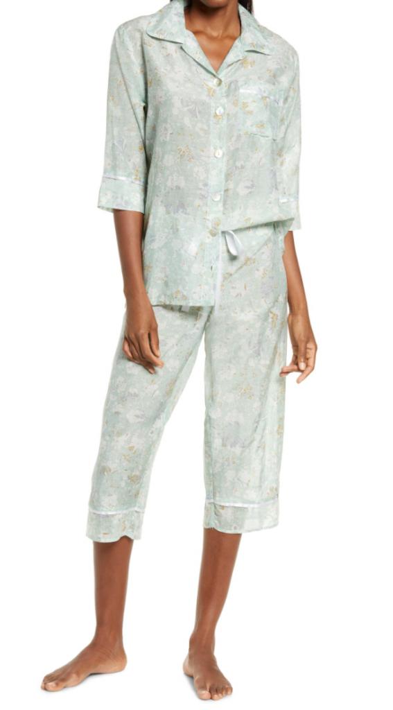 Louis Cotton & Silk Crop Pajamas