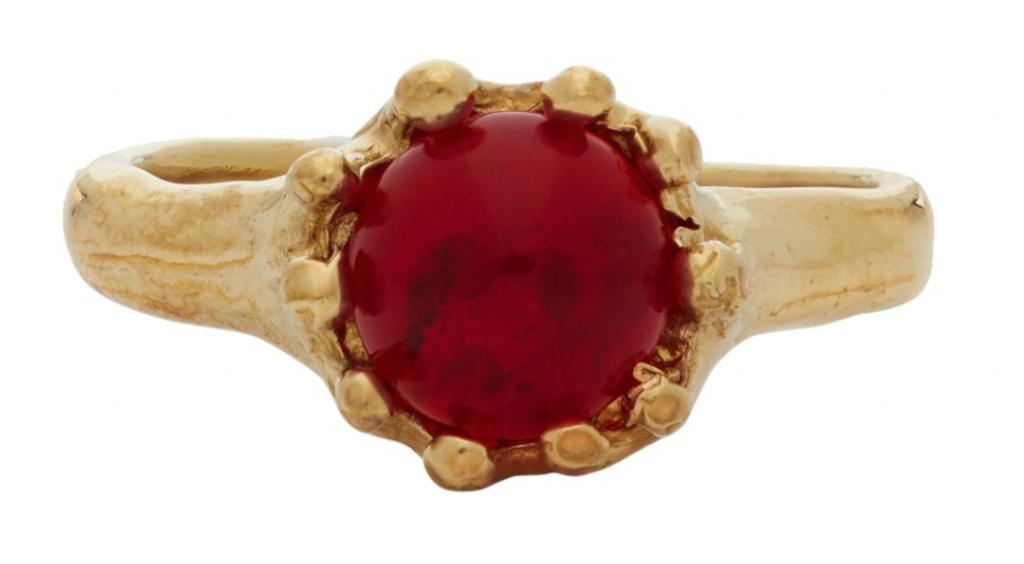 Mondo Mondo Gold & Red Lush Ring