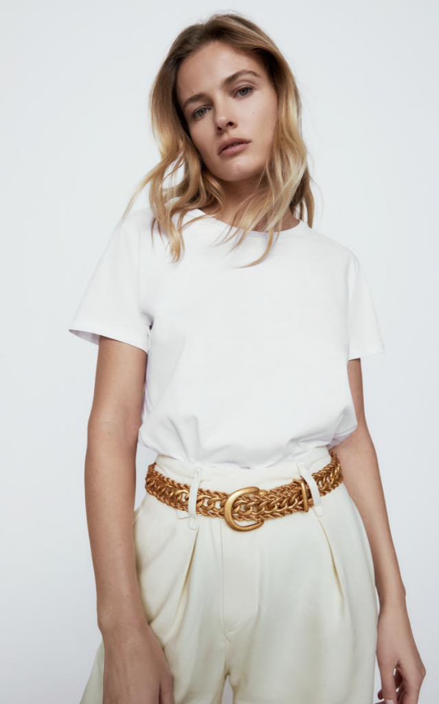 Zara Metallic Link Belt
