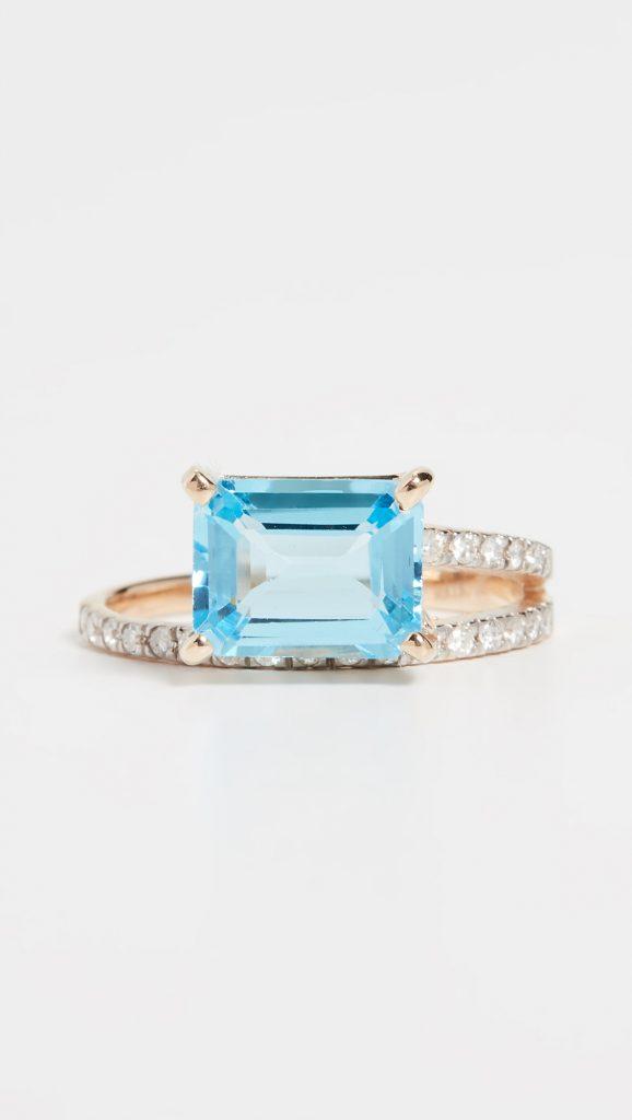 mateo blue topaz engagement ring
