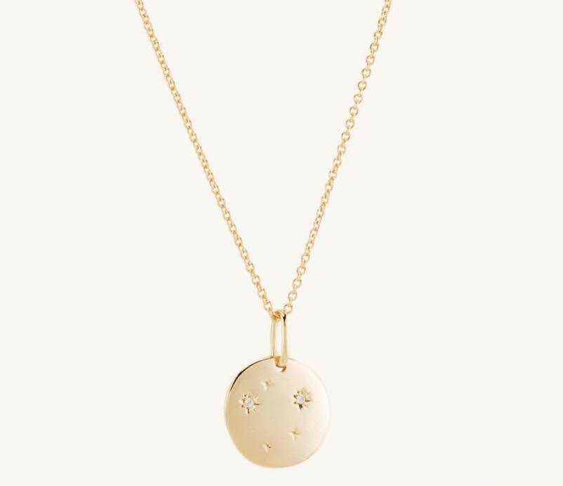 Merjuri Vermeil Zodiac Necklace