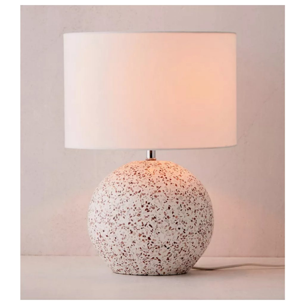 Urban Outfitters Round Terrazzo Table Lamp
