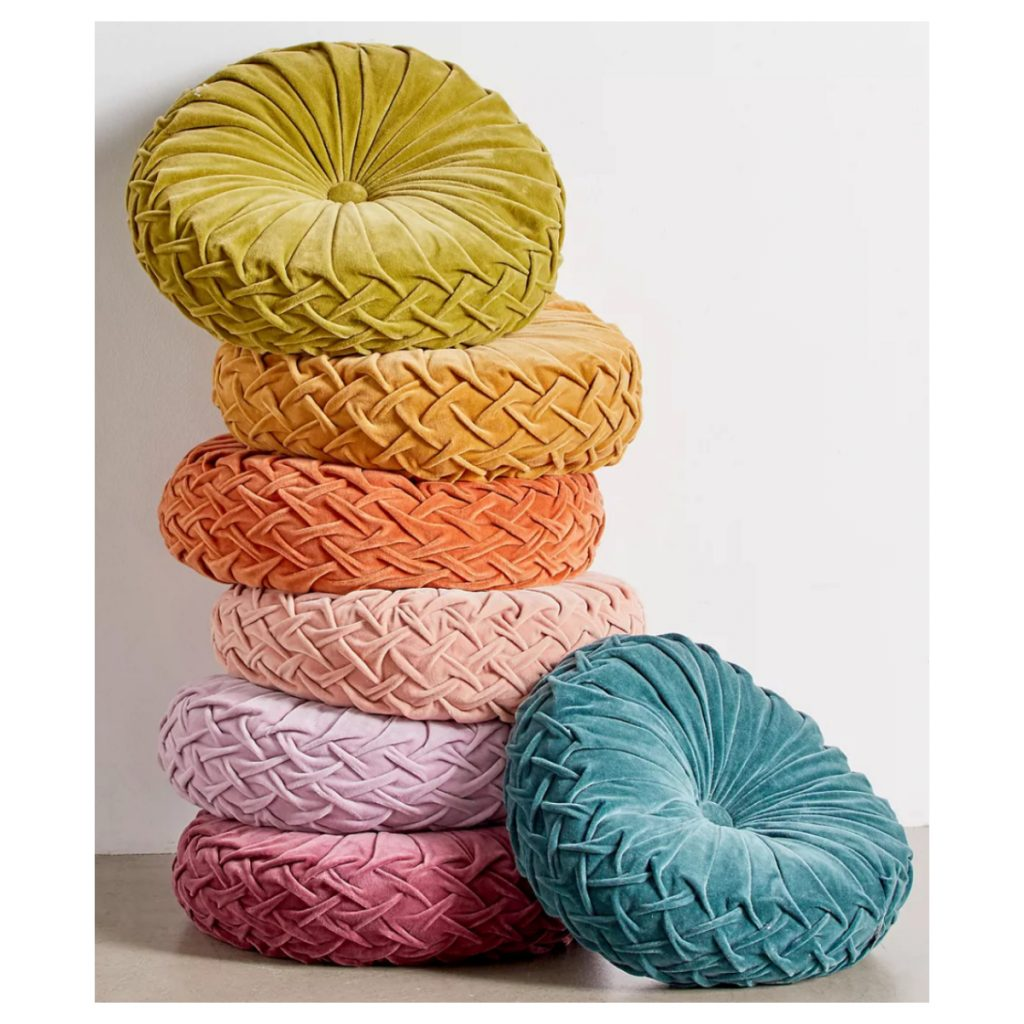 Urban Outfitters Round Pintuck Pillow