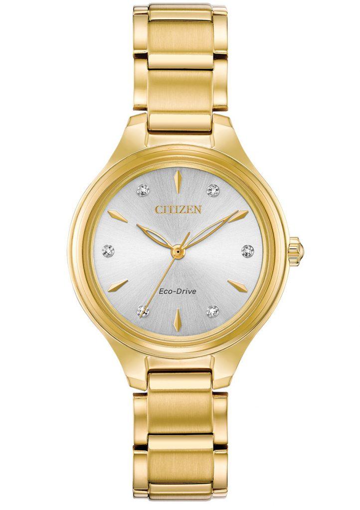 Citizen Corso Gold Tone Diamond Watch