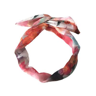 Gibou Printed Linen Twisted Headband