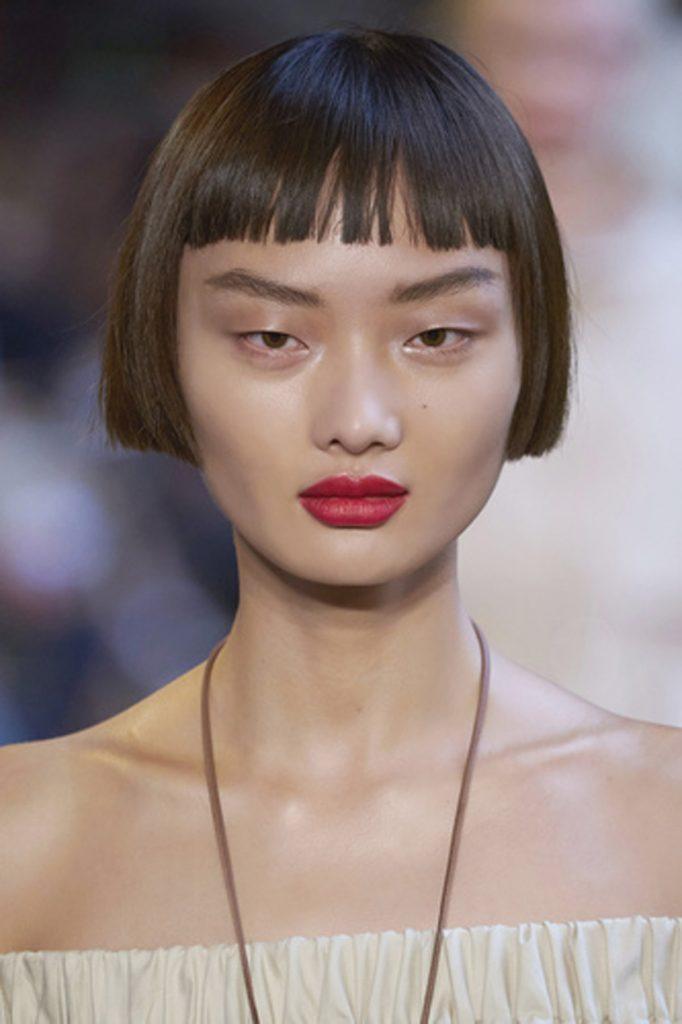 SS21 Hair Trend: Long Live Bangs (Max Mara)