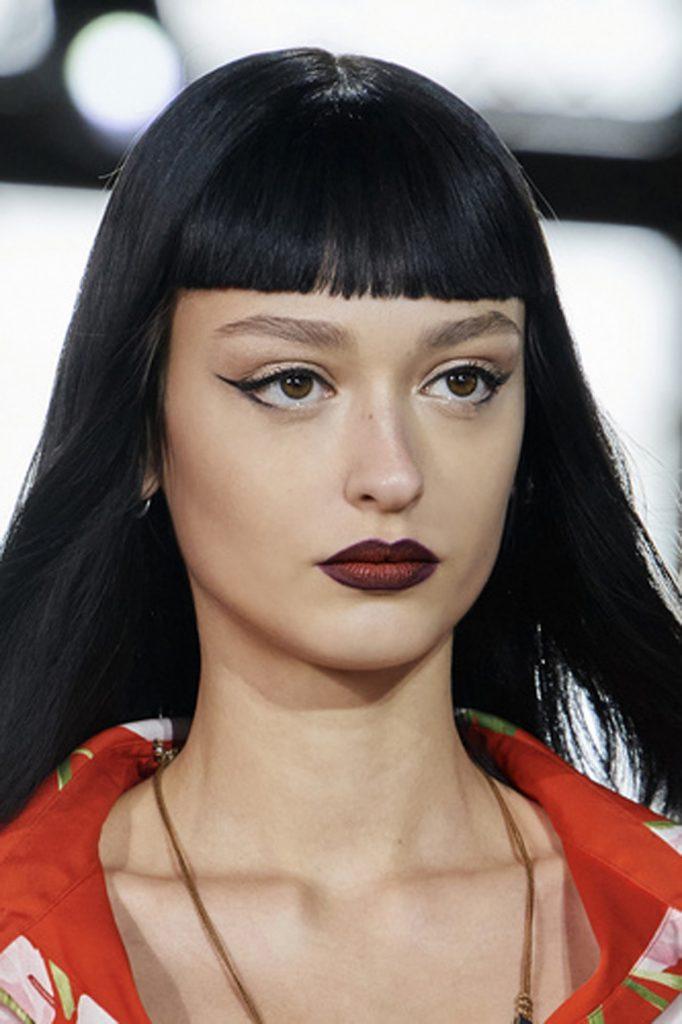 SS21 Hair Trend: Long Live Bangs (Valentino)