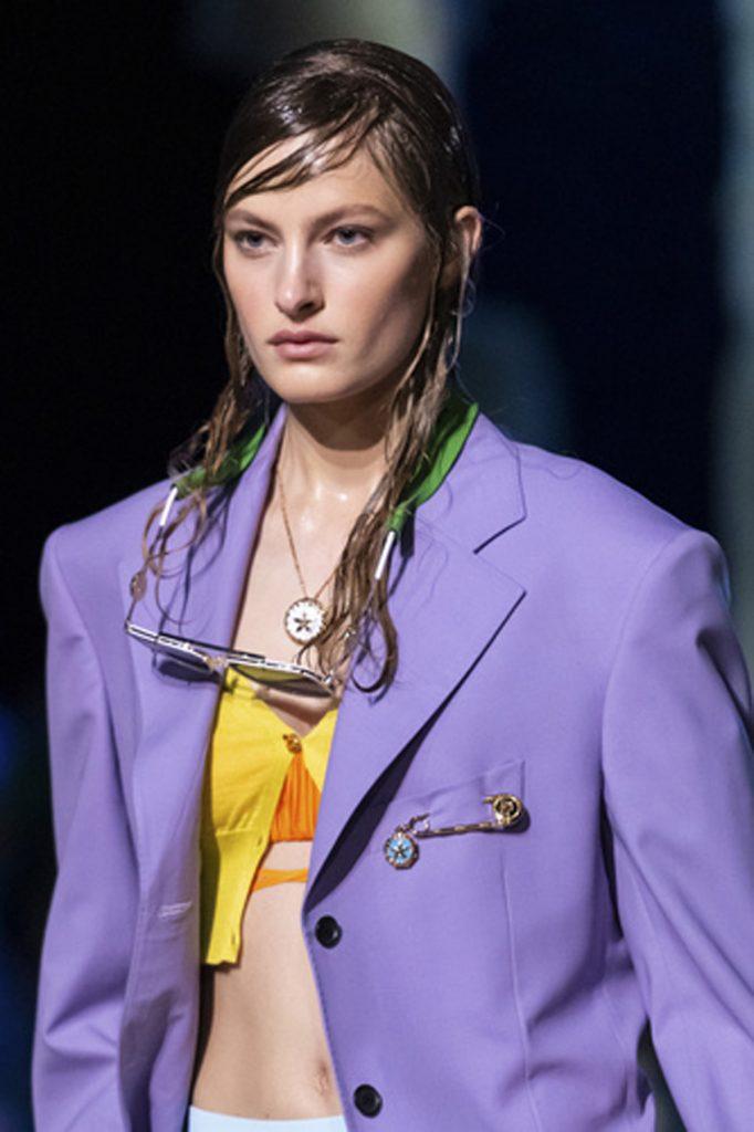 SS21 Hair Trend: Wet 2.0 (Versace)