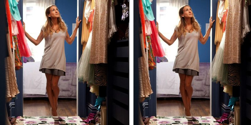 Carrie Bradshaw Spring Cleaning