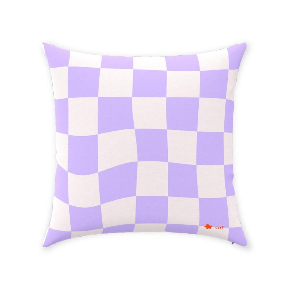 Checkered Throw Pillows, checkersandflowers