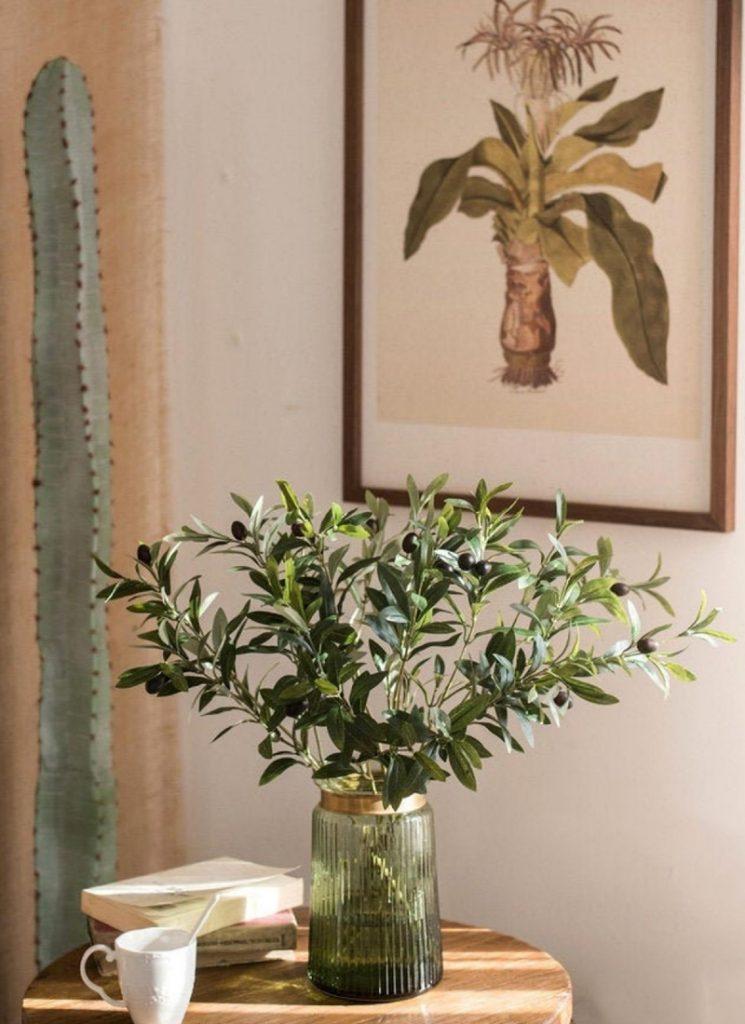 Decorative Artificial Olive Branch, IkkiTreasures