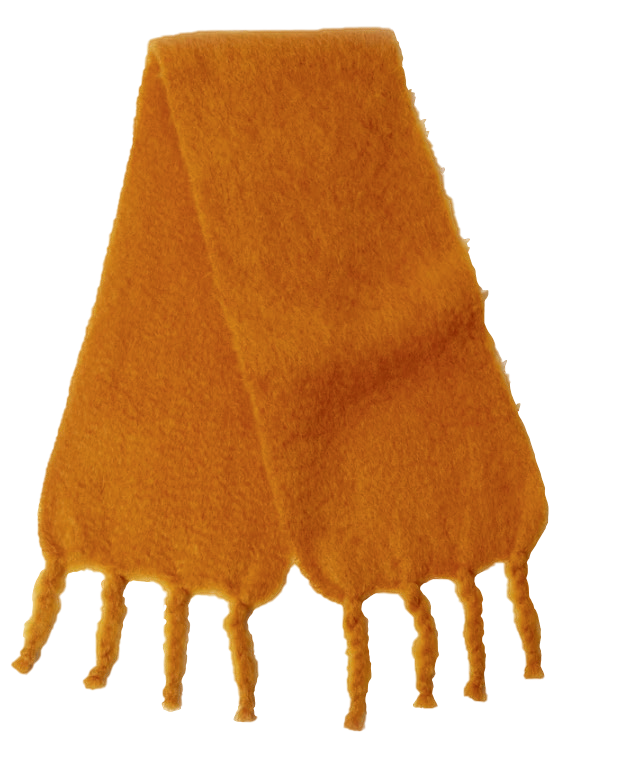 Yellow mohair scarf from Ezcaray