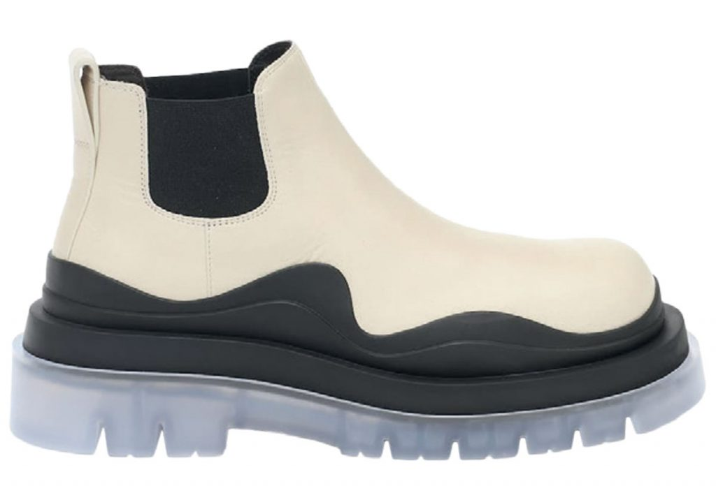 Leather and rubber boots from Bottega Veneta