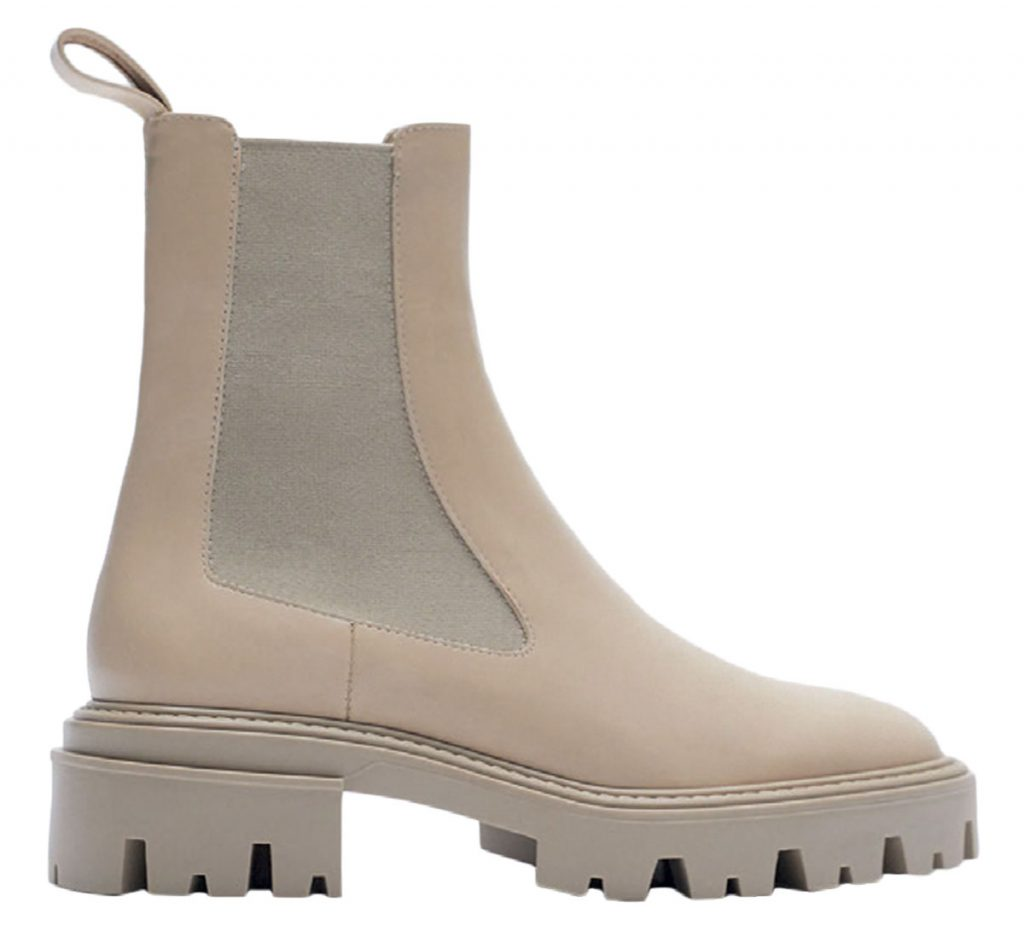 Leather boots from Zara