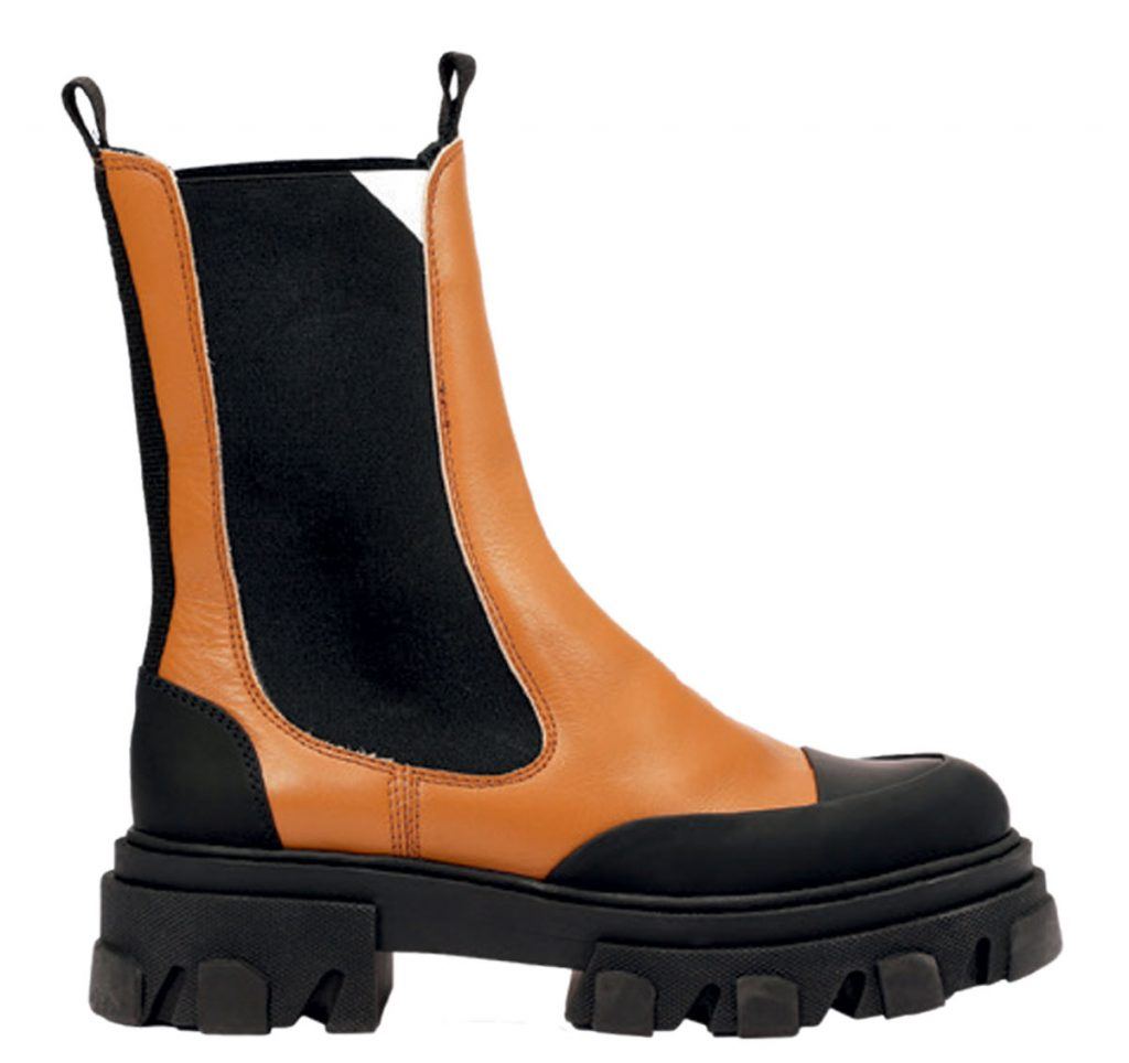 Leather and recycled rubber boots from Ganni
