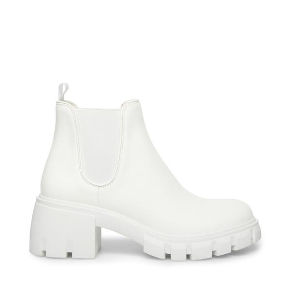 White leather boots from Steve Madden
