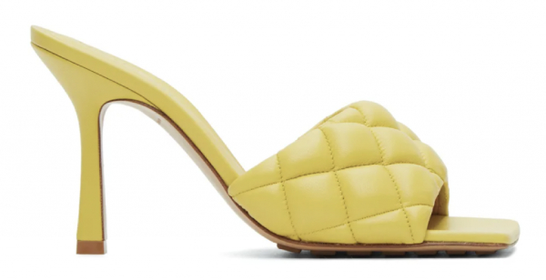 """Lido"" lambskin heeled sandals from Bottega Veneta"