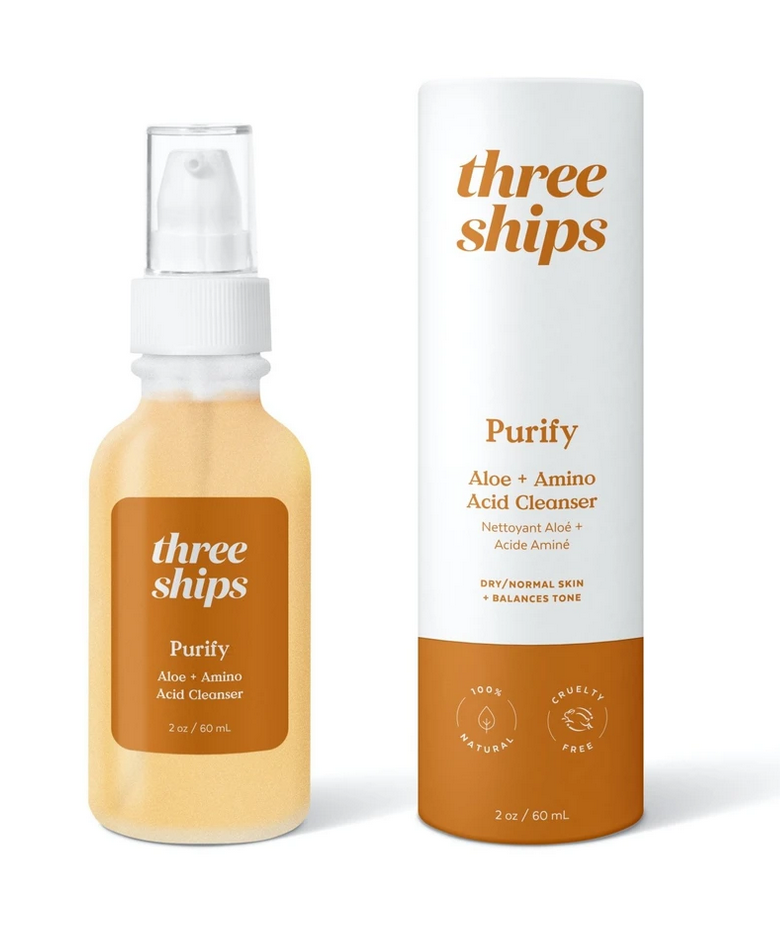 Three Ships Purify Aloe + Amino Acid Cleanser
