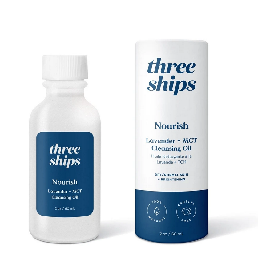 Three Ships Nourish Lavender + MCT Cleansing Oil