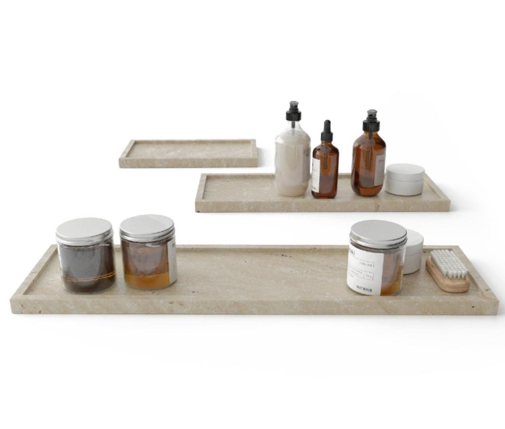 Travertine Bathroom Tray, BBStoneStudio