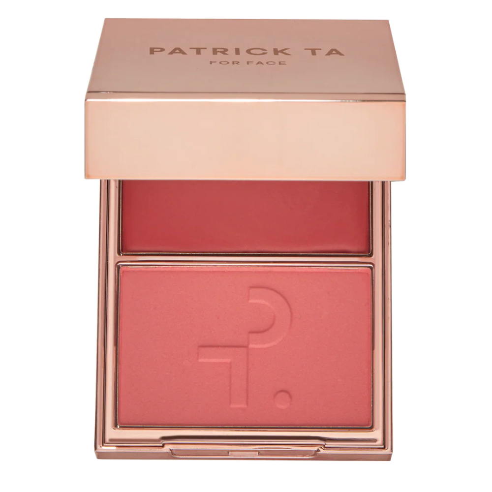 Patrick Ta Major Beauty Headlines Double-Take Crème & Powder Blush in Oh She's Different and She's So LA