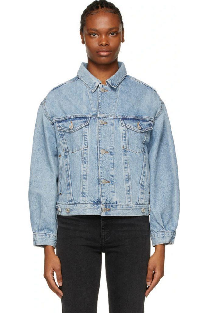 Blue Denim Oversized Charli Jacket, AGOLDE