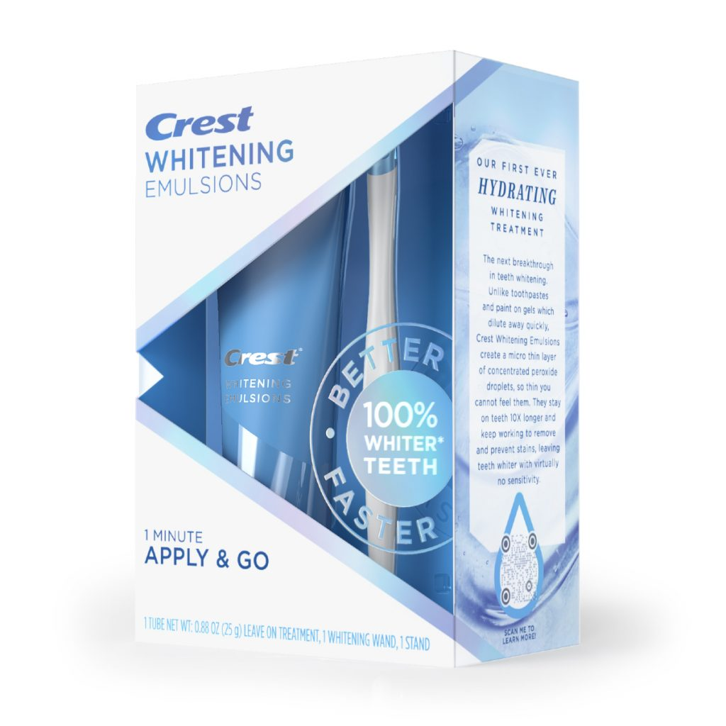 Crest Whitening Emulsions with Applicator