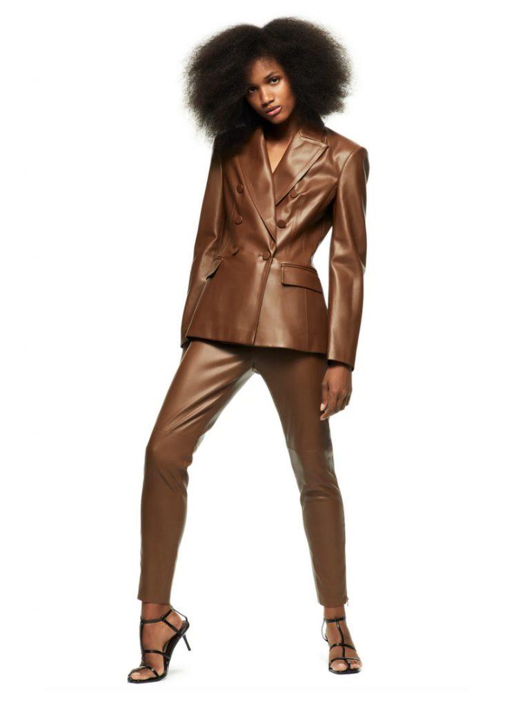 Faux Leather Blazer, Zara