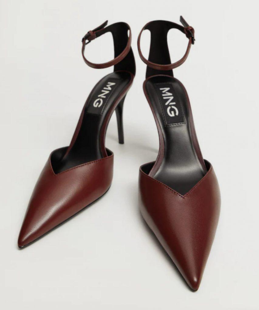 Heel Leather Shoes, Mango