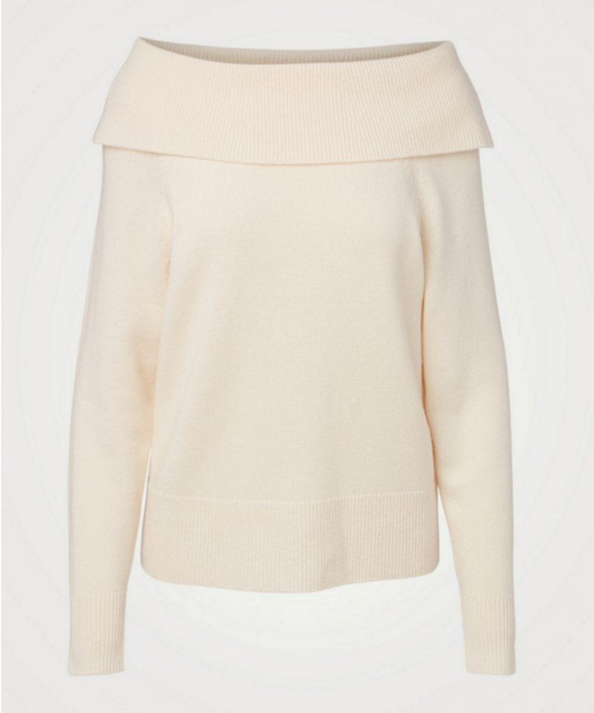 Izabella Wool-Blend Off-The-Shoulder Sweater, PAIGE