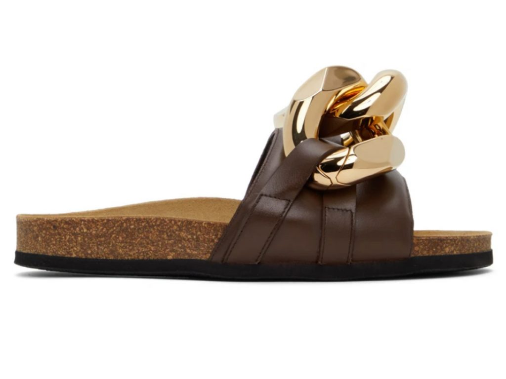 Brown Chain Loafer Slides, JW Anderson