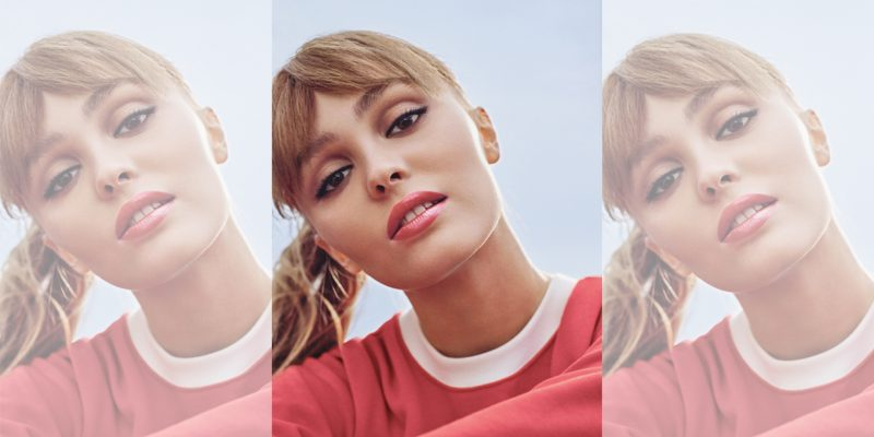 Lily Rose Depp in Chanel Rouge Coco Bloom