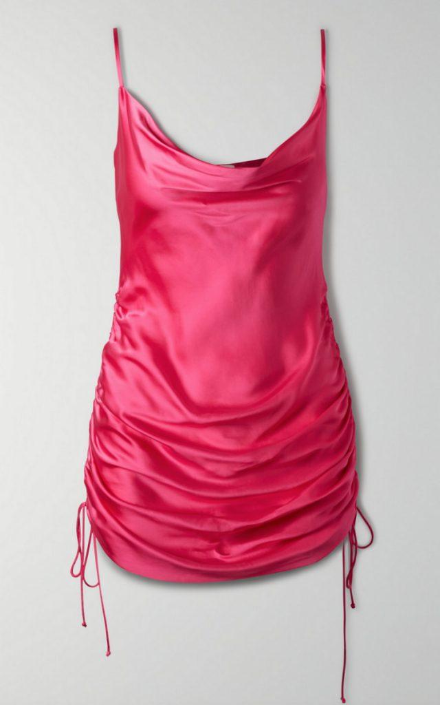 Ruched Slip Dress, Aritzia