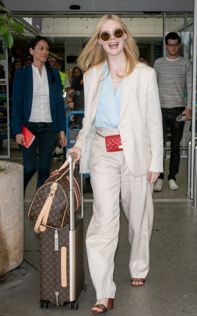 Elle Fanning at Airport