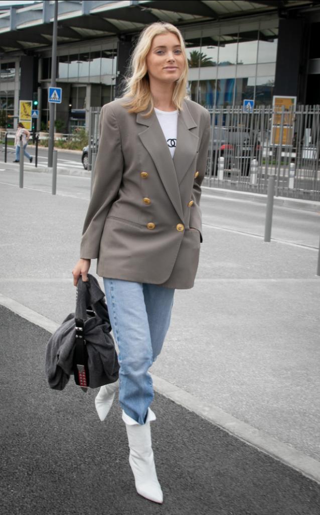 Elsa Hosk at Airport
