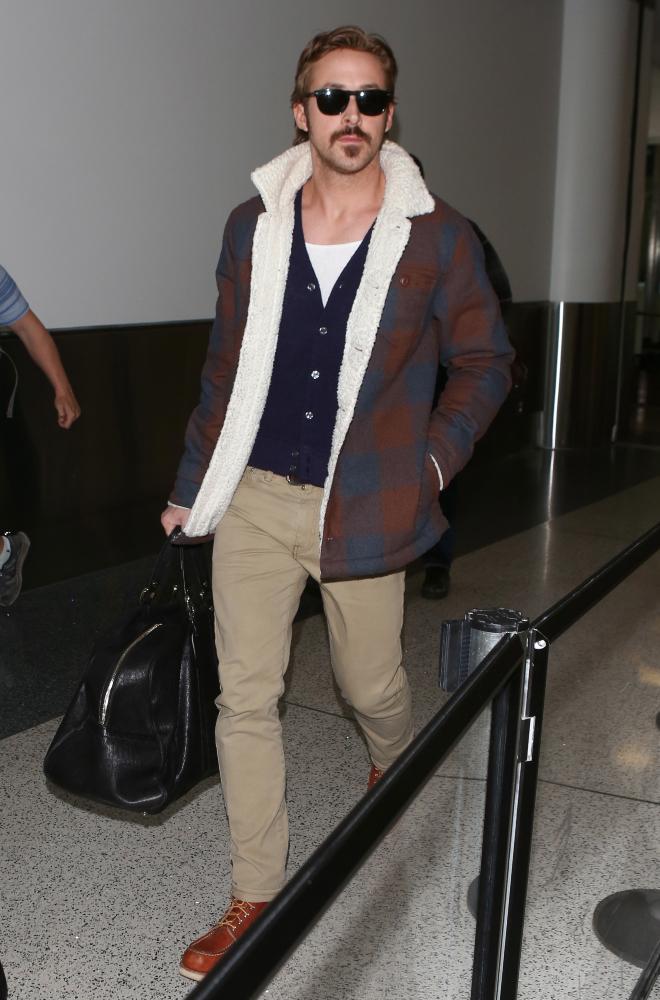 Ryan Gosling at Airport