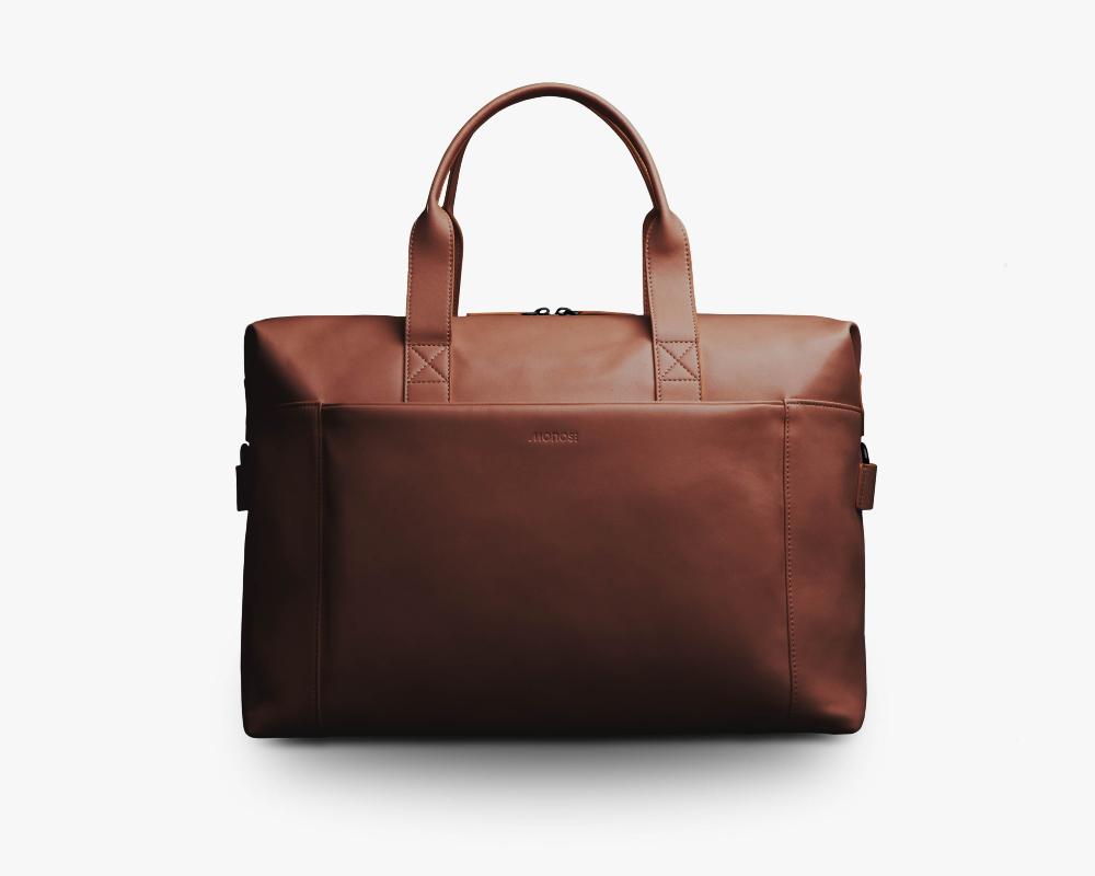 Vegan Leather Duffel Bag, Monos