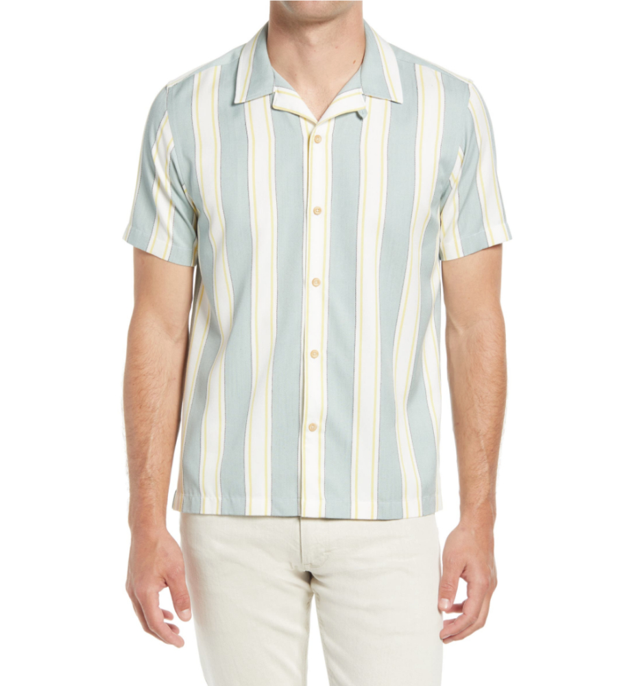 Zoomin Stripe Camp Shirt, Ted Baker London