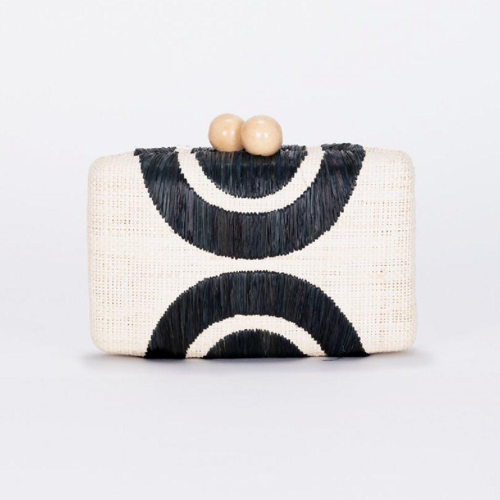 Kayu Ottis Embroidered Straw Clutch Bag