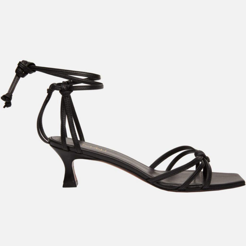 Manu Atelier Lace Sandals Black