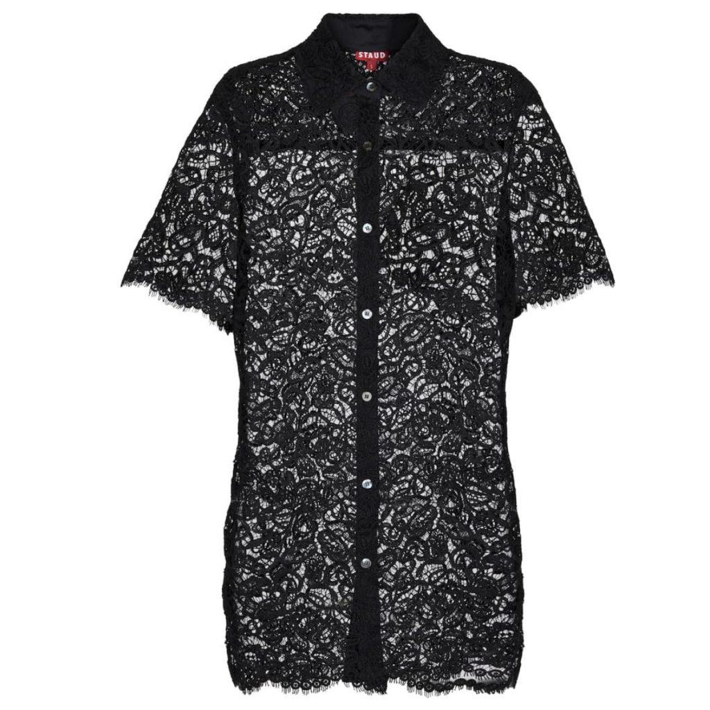 Staud Pallas Lace Shirt