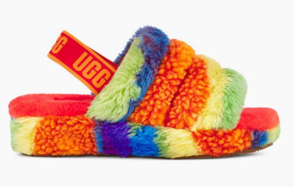 UGG Fluff Yeah Pride Slide