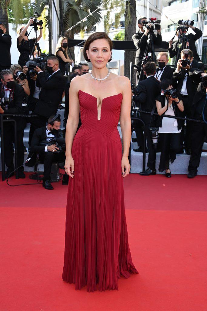 Maggie Gyllenhaal in Versace