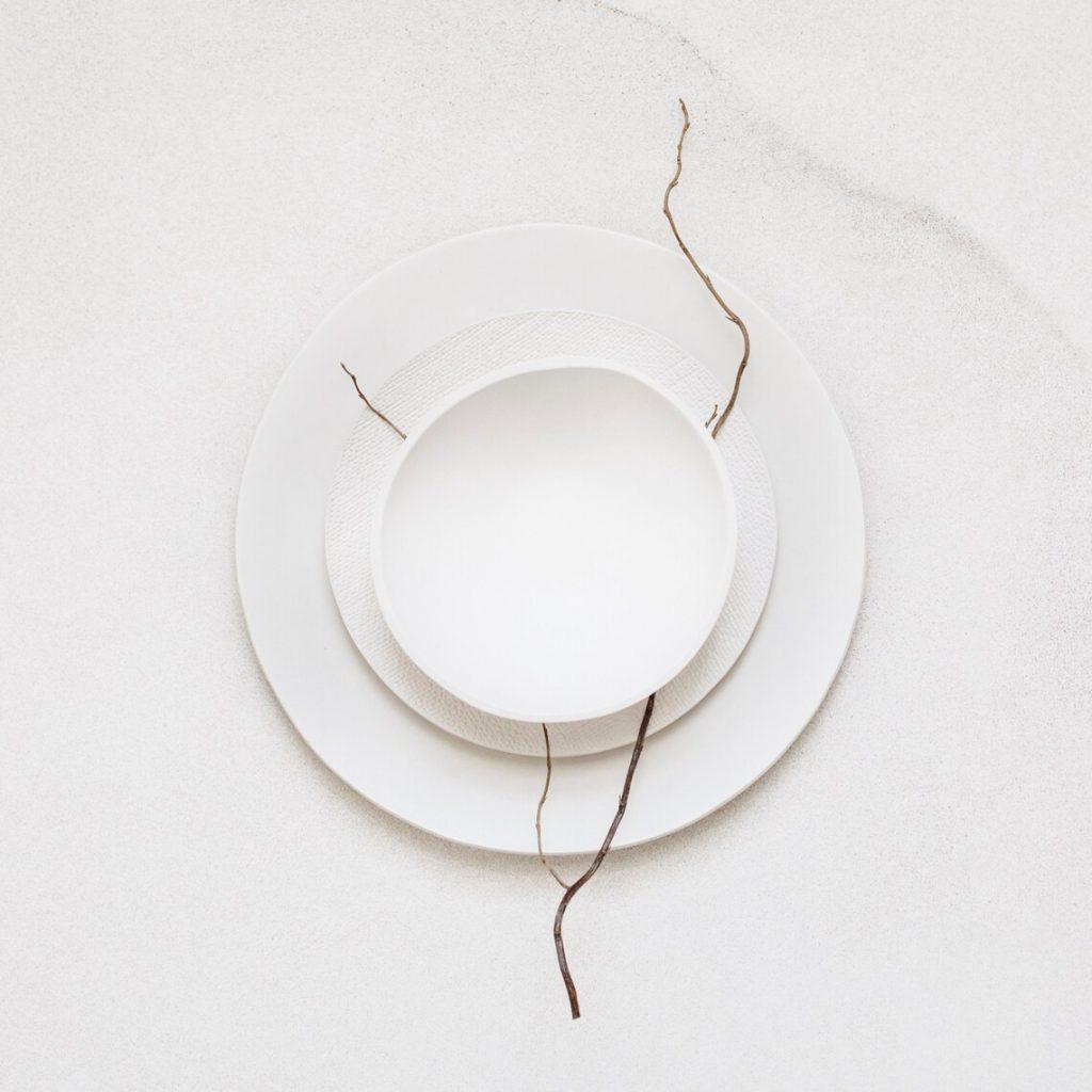 Handmade white ceramic bowl, Looks Like White