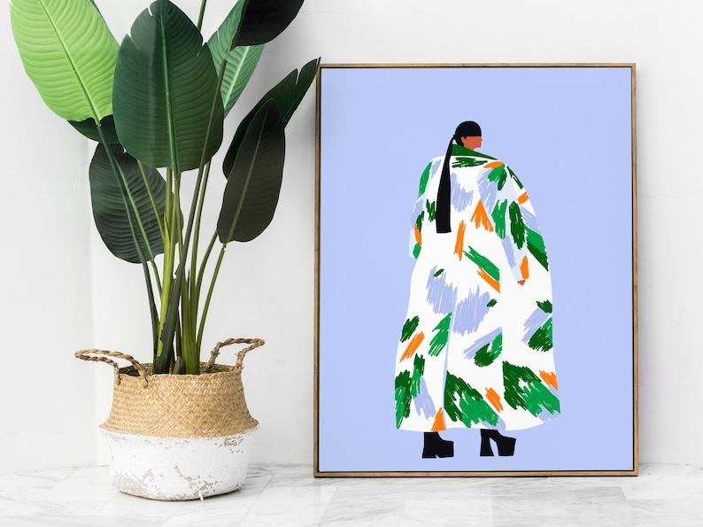 Stylish woman print I, Jenn Kitagawa