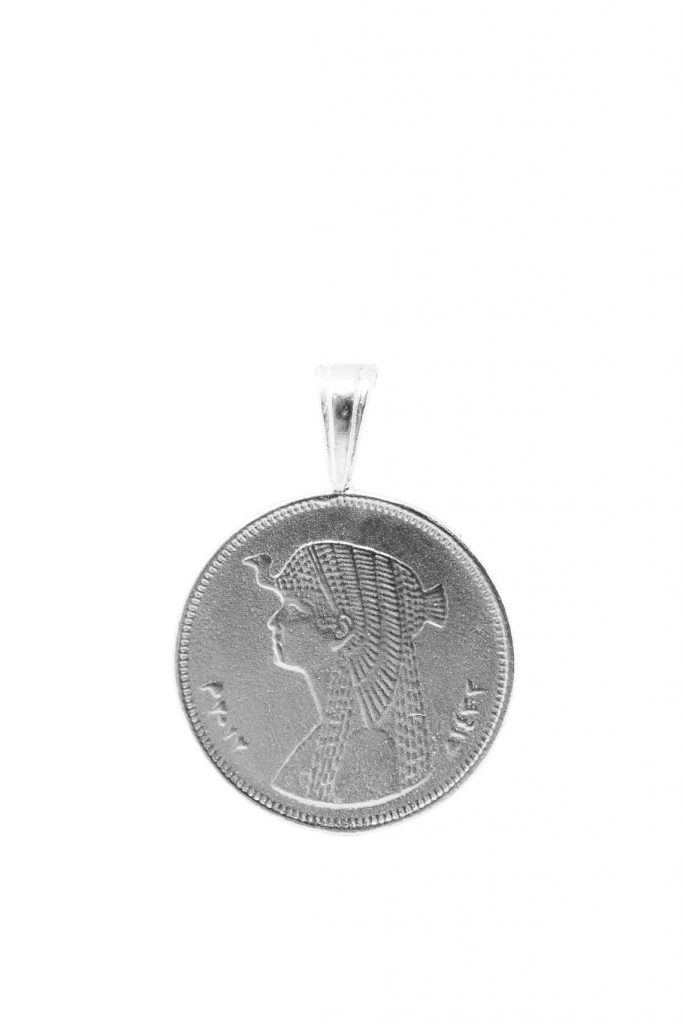 The Cleopatra coin pendant, Omi Woods