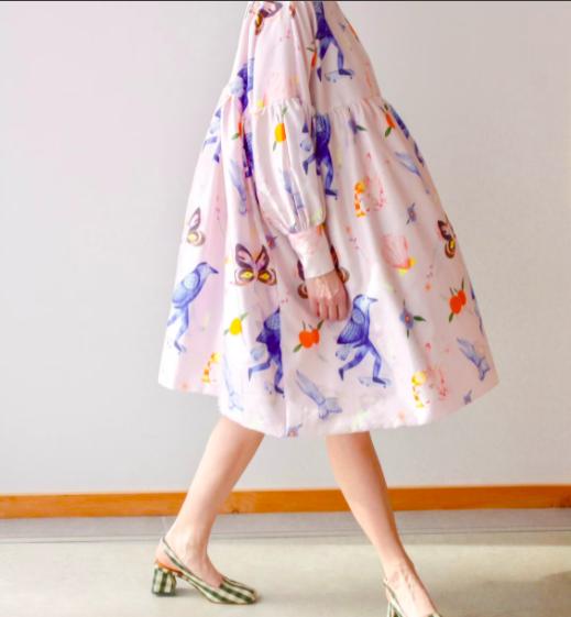 Printed dress, Noémiah